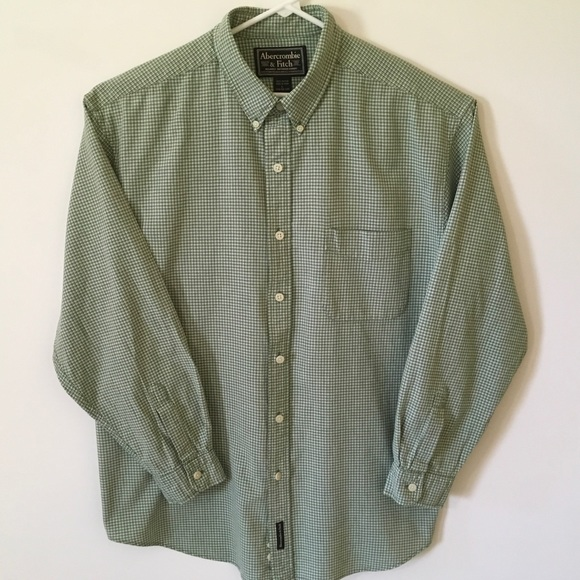 Abercrombie & Fitch Other - Men's Abercrombie & Fitch Green/White Button Down